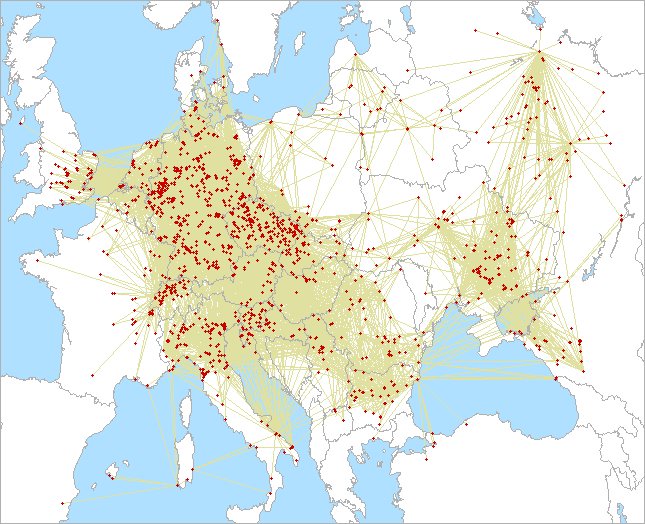 QSO map for 432 MHz